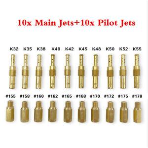 20Pcs Motorcycle Carburetor Main Jet WIth Slow Pilot Jet Set Kit For PWK PE OKO