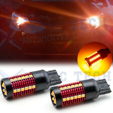 CANBUS Amber 3000K 7443 7444 LED Front Turn Signal Light Bulbs NO Hyper Flash