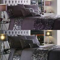 Luxury Sequin Duvet Quilt Cover Bedding Set Dazzle New