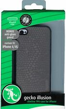 Gecko Gear Illusion Slimline Case iPhone 4 4S Grey with Bonus Screen Protector