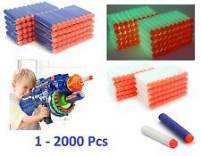 1-2000Pcs NERF Gun Refill Soft Darts Bullets Toys Gun N -Strike Round Head Blast