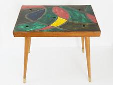 TABLE BASSE D'APPOINT CERAMIQUE & CHENE 1950 VINTAGE ROCKABILY 50S 50'S