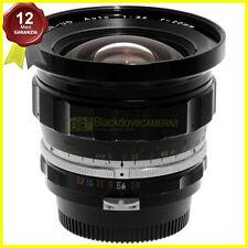 Obiettivo Nikon Auto Nikkor UD 20mm f3,5 per fotocamere reflex pre AI. 20/3,5