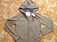 ABERCROMBIE & FITCH kids gray Hoodie with zipper size M NWT