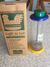 Stevens Kitchen Works Caffe Au Lait Froth Instantly Latte Milk Frother Glass