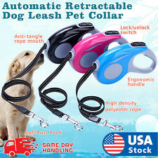 Automatic Retractable Walking Dog Leash Pet Collar 16 ft for dogs up to 35 lbs
