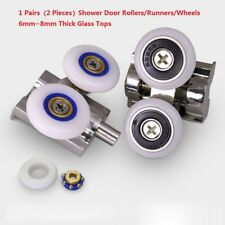 1 Pairs(2 Pieces)Shower Door Rollers/Runners/Wheels 6mm~8mm Thick Glass Tops