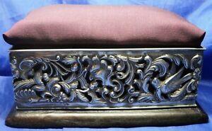VICTORIAN SOLID SILVER PIN CUSHION HINGED LID JEWELLERY BOX -HENRY MATTHEWS 1899