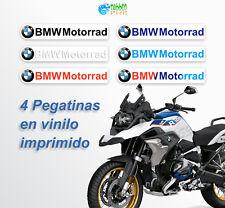 4 Pegatinas casco BMW Motorrad Logo stickers vinilo R1250 GS motero