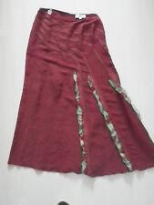 Très belle jupe BLEU BLANC ROUGE  taille 38, NEUVE, lin et soie!
