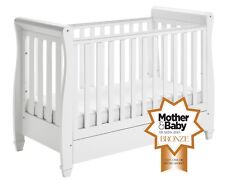 """C GRADE - BABYMORE EVA """"""""FIXED SIDE"""""""" COT BED """"""""NO DRAWER"""""""" - WHITE"""