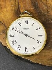 Vintage POCKET Russian WATCH SECONDA Gold Plated  AU + SERVICED+ #1270