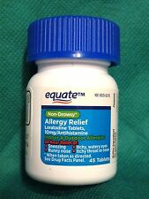 "EQUATE 24hr NON-DROWSY ALLERGY RELIEF ""COMPARE TO  CLARITIN"" 45 TABLETS JUN 2018"