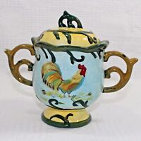 Sugar Bowl Floral Rooster by Jay Margaret Le Van Designs