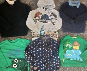 Baby boys  bundle of 3 jumpers, shirt & 2 tops age 2-3 years very good condition