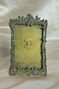 Antique French bronze scrolled photograph frame