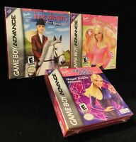 Game Boy Advance Barbie Lot (Horse Adventures, Groovy Games, Secret Agent)