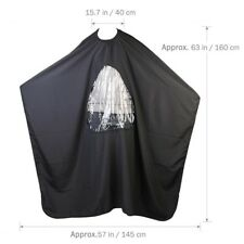 Salon Barber Hair Cutting Gown Cape With Viewing Window Hairdresser Apron NT5C