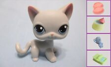 Littlest Pet Shop LPS  Gray Siamese Shorthair CAT #246+1 FREE Acess 100% Authen