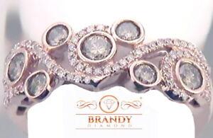 Brandy Diamond® Chocolate Brown 10K Rose Gold Intricate Design Ring 1.02 Ct