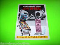 HI DEAL By BALLY 1975 ORIGINAL EM PINBALL MACHINE SALES FLYER BROCHURE