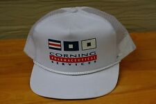 Rare Vtg Corning Pharmeceutical Services Mesh Trucker Snapback Hat Cap