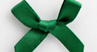Small 3cm Wide Pre-Tied 20 x Green Mini Bows (6mm Satin Ribbon) Card Making