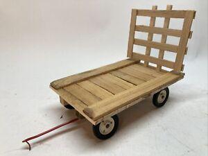 Custom 1/16 Wooden Hay Wagon Flat John Deere IH Oliver Farm Toy Tru Scale #2