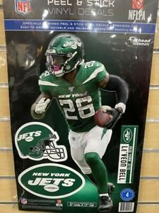 """LE'VEON BELL NEW YORK JETS 4 PIECE FATHEAD 11""""X17"""" WALL GRAPHIC DECALS"""