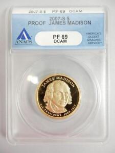 2007-S PROOF MADISON PRESIDENTIAL $, ANACS PF69 DCAM   #K83