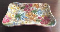 Beautiful Vintage Royal Winton Floral Rectangular Dish