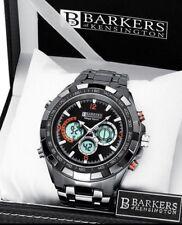 SRP £515! SUNDAY AUCTION B.K Black CHRONOGRAPH Mega Watch Inc Tag & Em Boss Box