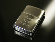More details for personalised genuine zippo lighter engraved men's wedding birthday smoking gift