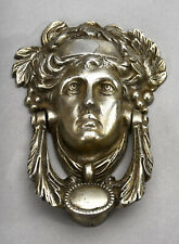 Door Knocker - Classical Lady Head w/Grapevine - Cast Metal by Homemaker England