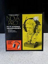 Vintage Realistic-Nova Pro Hi-Fi Stereo Headphones CAT no.33-1014B Made in Japan