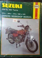 SUZUKI 250 350 TWINS 1968-1978 HAYNES MOTORCYCLE WORKSHOP MANUAL