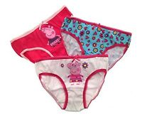 Official Girls PEPPA PIG 3 Pack Briefs Underwear Age 2 3 4 5 6 7 8 100% Cotton