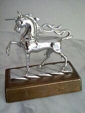 Wellcome Trust unicorn car mascot desk ornament, rare, rare.