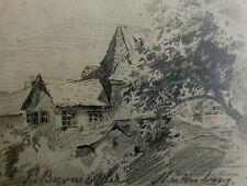 *EK52* Bleistiftzeichung Skizze Paul Burmeister Nürnberg um 1880