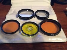 (Set of 5) Camera Lenses/Filters w/Case Hoya, and rolev M.G.