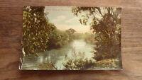 OLD AUSTRALIAN POSTCARD OF HEIDELBERG VICTORIA, THE YARRA RIVER c1900 1