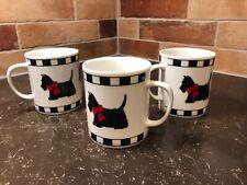 Dept 56 Scottie Mugs Black & White
