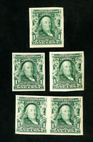 US Stamps # 314 VF Lot of 5 OG H Scott Value $70.00