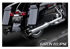 "RC Component RCX112C 4.5"" Gatlin Eclipse Slip-On Mufflers 1995-16 Harley Touring"