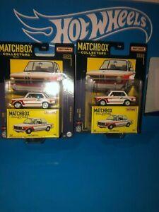 LOT OF (2) 1969 BMW 2002 MATCHBOX DIECAST,2021 MATCHBOX COLLECTORS SERIES,WHITE!