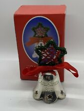 Vintage 2001 Silverplated Christmas Bell International Silver Company