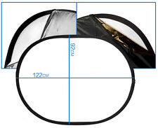 92x122cm Rectangle Folding Collapsible 5-in-1 Photo Reflector & Diffuser Panel
