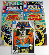 Night Force-1982 D.C.-Complete Series-1-14 With Duplicates-19 Books-Gene Colan