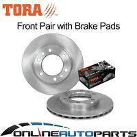 2 Front Disc Brake Rotors + Pads suits Landcruiser 8/80~1/90 4x4 40 60 70 Series