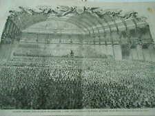 Gravure 1868 - Palais industrie Orphéonistes de France au nombre de 6000